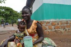 South Sudanese refugee receives relief in Ethiopia